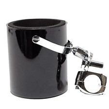 Shiny Black Motorcycle Cup Holder Handlebar Drink Bottle Holder Harley Universal