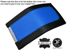 BLACK & BLUE LEATHER ARMREST COVER FITS FORD MUSTANG 2010-2014