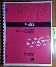 John Deere 340 440 Liquifire Snowmobile S/N 80001-120000 Owner Operator's Manual