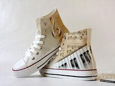 Piano, Sheet Music, Custom Made Canvas Shoes