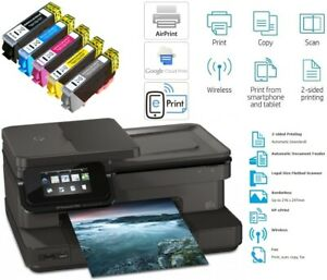 HP Photosmart 7520 Wireless e-All-in-One Wi-Fi Inkjet Photo Printer + 364XL Inks