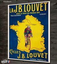 Plaque métal 40x30cm, repro ancienne affiche publicitaire vélo JB LOUVET