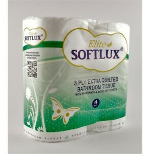 40 Pack of Soft 3ply Toilet Roll Bathroom Tissue Loo Rolls Fragranced Scented