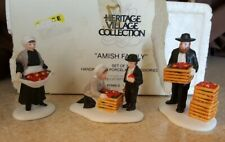 New ListingDept 56 New England Village Series 1990 Amish Family 3 Piece Accessory Retired