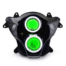 KT LED Halo Eye HID Headlight Assembly for Suzuki GSXR750 GSX-R750 06 07 Green