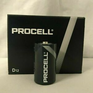 12/PK  NEW Duracell Procell SIZE D Alkaline Batteries QUICK SHIP !!  Exp 2026