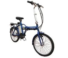 Electric Folding Bicycle with Throttle - Light weight BLUE UK STOCK