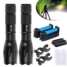 UltraFire G700 Tactical Zoomable T6 LED Flashlight Military Grade Torch - Black