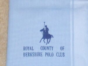 Mid Blue Gent's Handkerchief from Royal County of Berkshire Polo Club