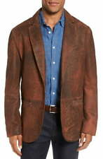 Nwt 100% Distressed Lamb Leather Flynt Cullen Sport Coat Jacket Color: Rust  00004000 46L