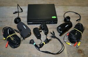 FLOUREON 1 TB 4 Channel CCTV Security System DVR with 2 cameras