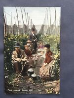 ±1910 HOP PICKING Midday Rest KENT Old Postcard Rural Life YOUNG & COOPER