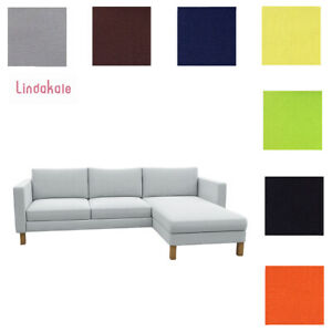 Custom Made Cover Fits IKEA Karlstad Two-seat Sofa with Chaise, Replace Cover