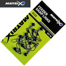 Fox Matrix Feeder Snap Links - 10 Angelwirbel, Wirbel mit Perle, Karabinerwirbel