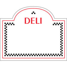 Write On Deli Tag With Dome Top White Heat Resistant Merchandising Tag - 3 5/16