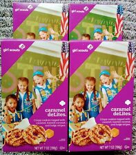 4 Boxes GIRL SCOUTS Caramel DeLites Delights/Samoas Priority Mail Fresh Sept '21