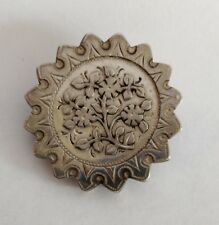 Aesthetic Movement Superb Orig Antique 19thc Aesthetic Movement Silver Brooch-secret Compartment