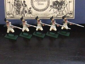 Regal Toy soldiers Napoleonic 5 French Dragoons firing. 54 mm metal soldiers