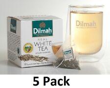 Dilmah White Tea Silver Tips 10 luxury leaf Tea bags Ceylon 20g x 5 pack