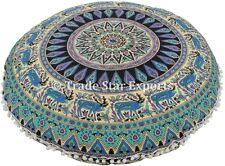 "Large Indian Round Mandala Floor Cushions 32"" Ethnic Bohemian Cotton Pillow Sham"