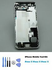 Housing Back Cover Case Complete iPhone 5s Silver with Inner Parts Free Tools