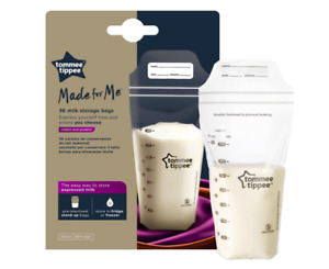 Tommee Tippee Breast Milk Storage Bags 36-Count Bags Pump & Save Freezer Safe