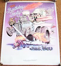 "THE BIRTHDAY PARTY RARE U.K. RECORD COMPANY PROMO POSTER ""JUNK YARD"" ALBUM 1982"
