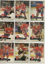 1991-92 MONTREAL CANADIENS Pro Set FRENCH Series 1 Team Set - 21 Cards - ROY