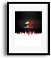 Song Lyric Music Quote Artwork Print Poster - In the Air Tonight by Phil Collins