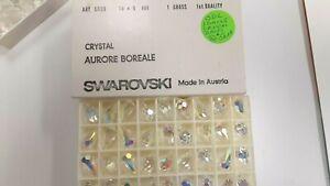 12 swarovski teardrop crystal beads,18x9mm crystal AB #6000