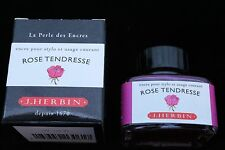 J HERBIN BOTTLED FOUNTAIN PEN INK 30ML ROSE TENDRESSE