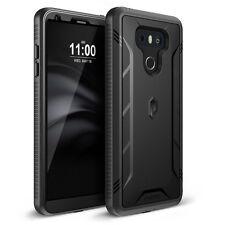 Revolution Built-In Screen Protector heavy duty hybrid case for LG G6  Black