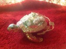 Pottery Barn Sea Turtle Blown Glass Ornament Sea Life Ocean Coastal Beach