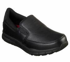 Skechers shoes Work Black Women Memory Foam Flex Relax Fit Slip Resistant 77236