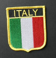 ITALY ITALIAN ITALIA INTERNATIONAL COUNTRY FLAG EMBROIDERED PATCH 2.5 X 3 INCHES