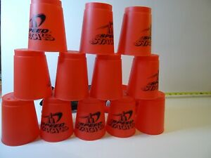 WSSA Official Red Speed Stacks Cups x12 with Carry Bag