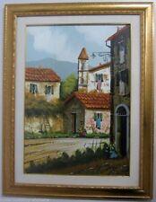 Original-direkt-vom-Künstler Gemälde über Landschaften & Städte (1950-1999) aus Leinwand mit Impressionismus