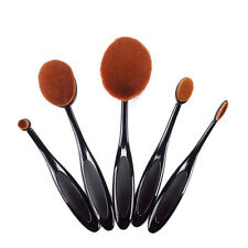 Makeup Brushes Toothbrush Shaped Foundation Power Oval Puff Set 5pcs Tool Kits