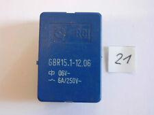 Relais GBR 15.1-12.06  6 V  6 A  250 V AC 2x um liegend  Relay