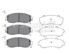 Scheibenbremse  Vorderachse Vorne für Honda ASHUKI H025-69 Bremsbelagsatz