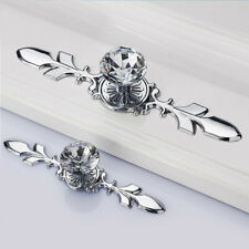 5pcs 10pcs Crystal Glass Cabinet Door Knob Diamond Furniture Drawer Handle Pull