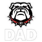 Georgia Bulldog Dad Mini Decal