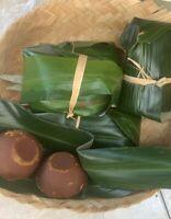 Organic Palm Sugar wrapped in palm leaves Gula Aren Bali 8 oz
