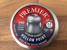 CROSMAN PREMIER HOLLOW POINT.22 PELLETS 5.5mm SUPERIOR ACCURACY CROSSMAN