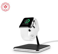 Twelve South Forte for Apple Watch, Chrome & Leather Display and Charging Stand