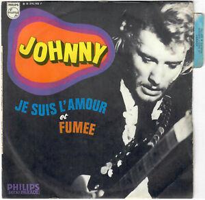 JOHNNY HALLYDAY Je suis l'amour Fumée 1968 SP Philips Languette Colombet Psych