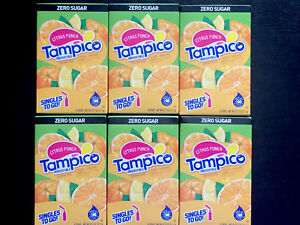 TAMPICO CITRUS PUNCH (6 Box) Singles to go Drink Mix Water Flavor Enhancer