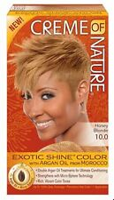 Creme of Nature Exotic Shine Color With Argan Oil, Honey Blonde 10.0, 1 ea