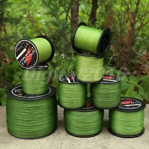 Army Green 300/500/1000M Strong Spectra Braided Line Sea Freshwater Fishing Line
