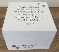 Shabby Personalised Chic In Memory Of A Loved One Memory Box DAD Mum Nana Granny